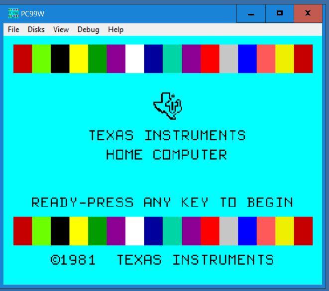 TI Color Bar Screen